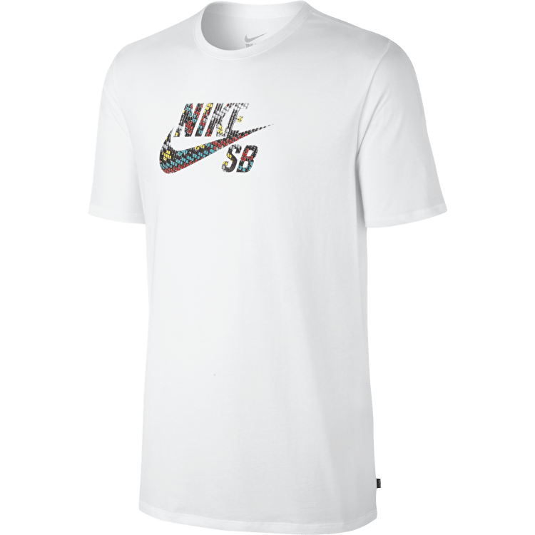 Nike SB Icon Seat Cover T-Shirt - White/Black