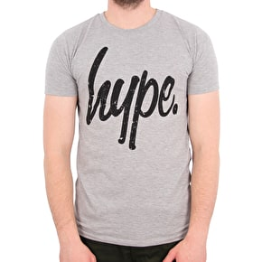 Hype Distressed T-Shirt - Grey/Black