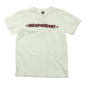 Independent Kid's T-Shirt - Bar Cross White