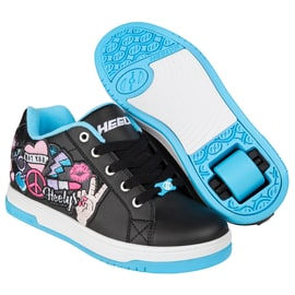 Heelys Split - Black/Aqua/Peace Patch