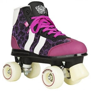 B-Stock Rookie Quad Skates - Retro V2 Purple Glitter - UK 4 (Slightly scuffed)