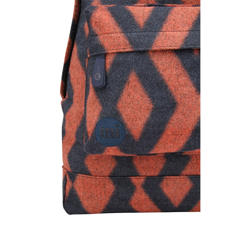 Mi-Pac Diamond Felt Backpack - Navy/Orange