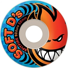 Spitfire Soft D's Skateboard Wheels - White 56mm (Pack of 4)