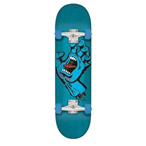 Santa Cruz Screaming Hand Complete Skateboard - Blue 8.0