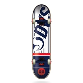 DVS Pinstripe Complete Skateboard - White/Red/Blue 8.0