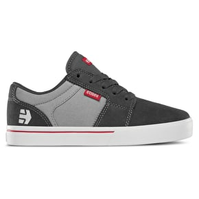 Etnies Barge Kids Skate Shoes - Dark Grey/Grey/Red