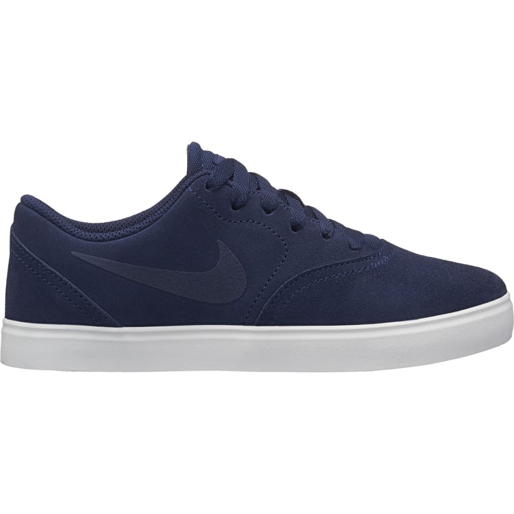 Nike SB Check Suede Kids Skate Shoes - Navy/Black
