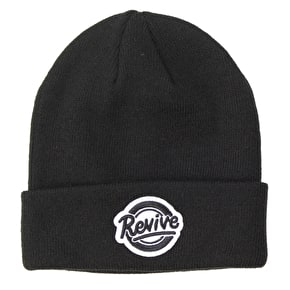 ReVive Circle Script Beanie - Black