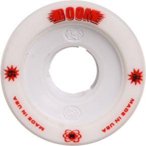 ATOM Boom Alloy Core 59mm Quad Derby Wheels (4pk) White (XXFirm)