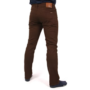 Volcom Vorta 5 Pocket Slub Trousers  - Dark Chocolate