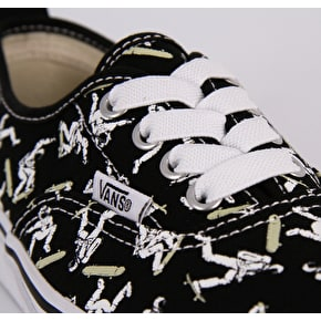 Vans Authentic Elastic Lace Toddler Skate Shoes - (Astronauts) Black/Glow
