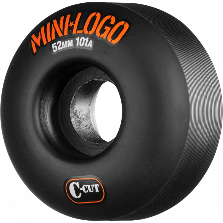 Mini Logo C-Cut 101a Skateboard Wheels - Black