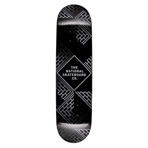 National Skateboard Co Classic Skateboard Deck - Black Wash/Black Stain 8