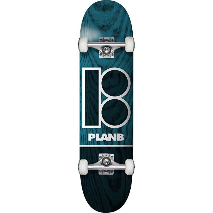 Plan B Team B Blue Stain Complete Skateboard - 8.25""