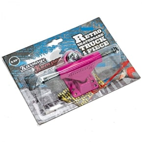 Karnage Retro Skateboard Truck - Pink (Single)