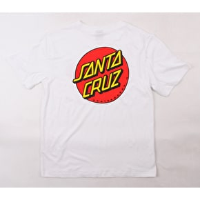 Santa Cruz Classic Dot Womens T-Shirt - White
