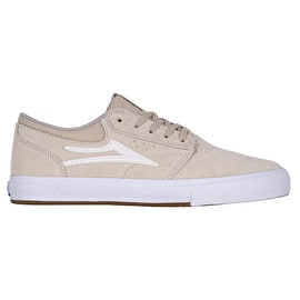 Lakai Griffin VLK Skate Shoes - White/White Suede