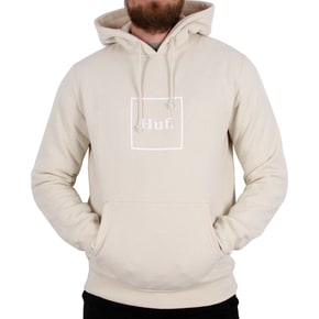 Huf Outline Box Logo Pullover Hoodie - White