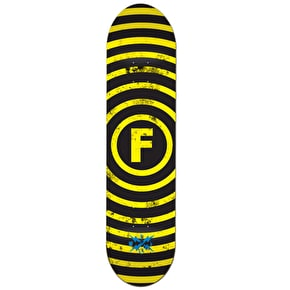 Foundation Vertigo Skateboard Deck - Black / Yellow 8.25