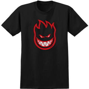 Spitfire Bighead T-Shirt - Black Fill