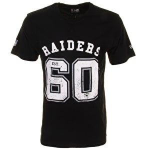 New Era NFL Vintage Number T-Shirt - Oakland Raiders