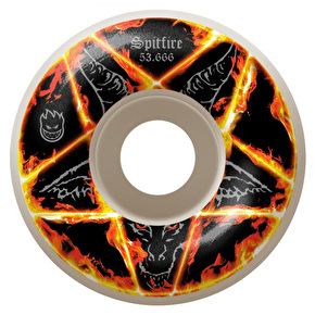 Spitfire Pentagram Colour Skateboard Wheels - White 54.666mm (Pack of 4)