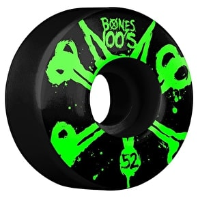 Bones OG 100'S #10 V4 Skateboard Wheels - Black 52mm (Pack of 4)