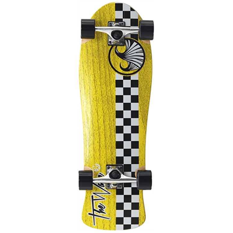 "WAVE40 Checker 30"" Complete Longboard - Yellow"