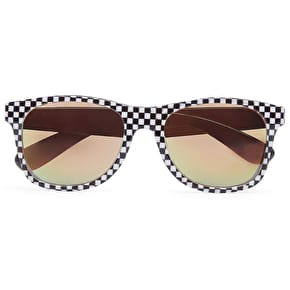 Vans Spicoli 4 Checkerboard Sunglasses - Black/Red