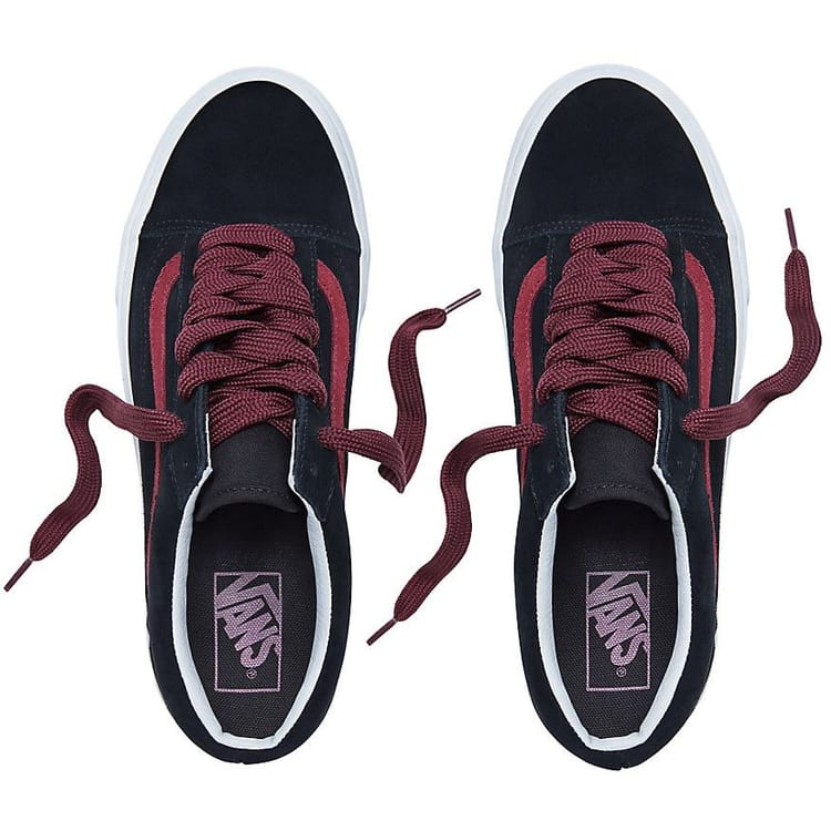 Vans Old Skool Skate Shoes - (Oversized Lace) Black/Port Royale