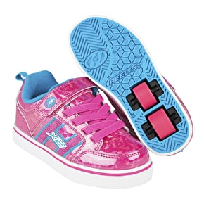Heelys X2 Bolt Plus Light Up - Hot Pink Hologram/Neon Blue