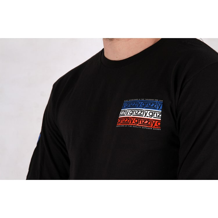 Grizzly Birmingham Longsleeve T-Shirt - Black