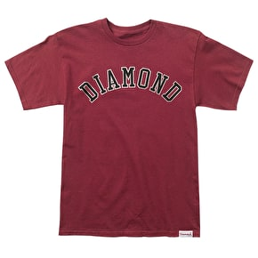 Diamond Arch T-Shirt - Burgundy