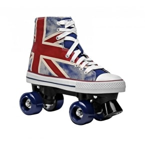 B-Stock Roces Quad Skates - Chuck Union Jack - UK 1 (faded/cracked graphic)