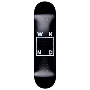 WKND Black Sketch Logo Skateboard Deck - 8.0