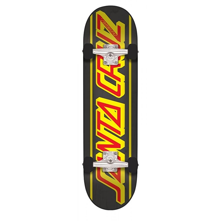 Santa Cruz Strip Complete Skateboard - Black 7.8""