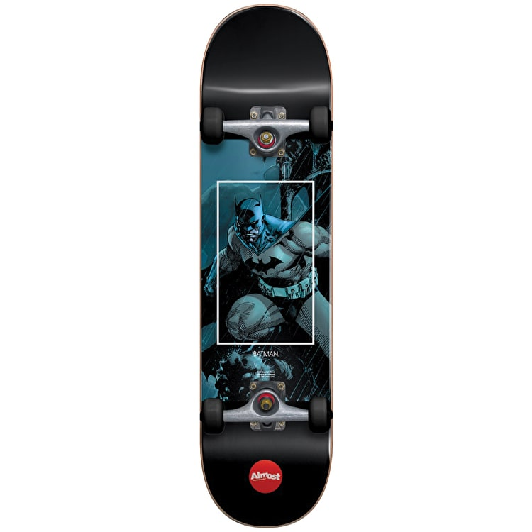 Almost Batman Fight Club Youth Complete Skateboard - Blue 7.25""