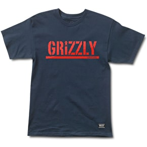 Grizzly Shade Stamp T-Shirt - Navy