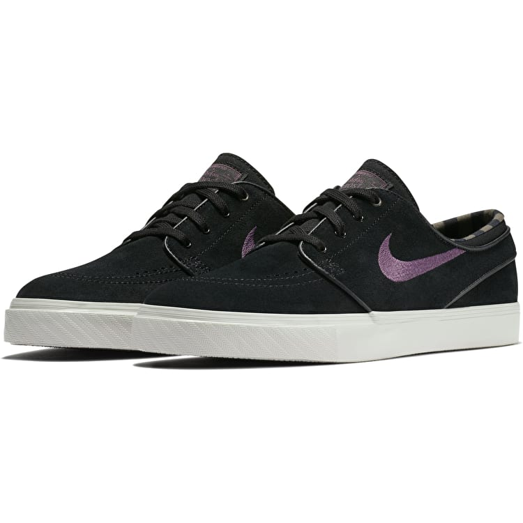 Nike Zoom Stefan Janoski Skate Shoes - Black/Pro Purple/Ridgerock Light Bone