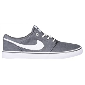 Nike SB Portmore II Solar Skate Shoes - Dark Grey/White