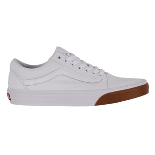 Vans Old Skool Skate Shoes - (Gum Bumper) True White