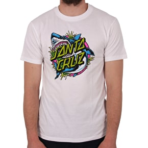 Santa Cruz Shark Dot T-Shirt - White