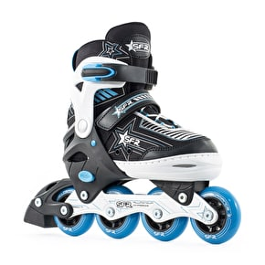 B-Stock SFR Kids' Inline Skates - Pulsar Adjustable Blue - Medium (Junior UK 12 - UK 2) (Box Damage)