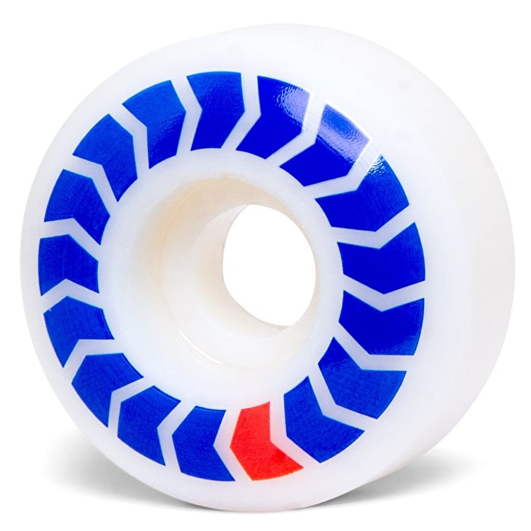 Wayward Chevron Skateboard Wheels - Blue/Red 50mm