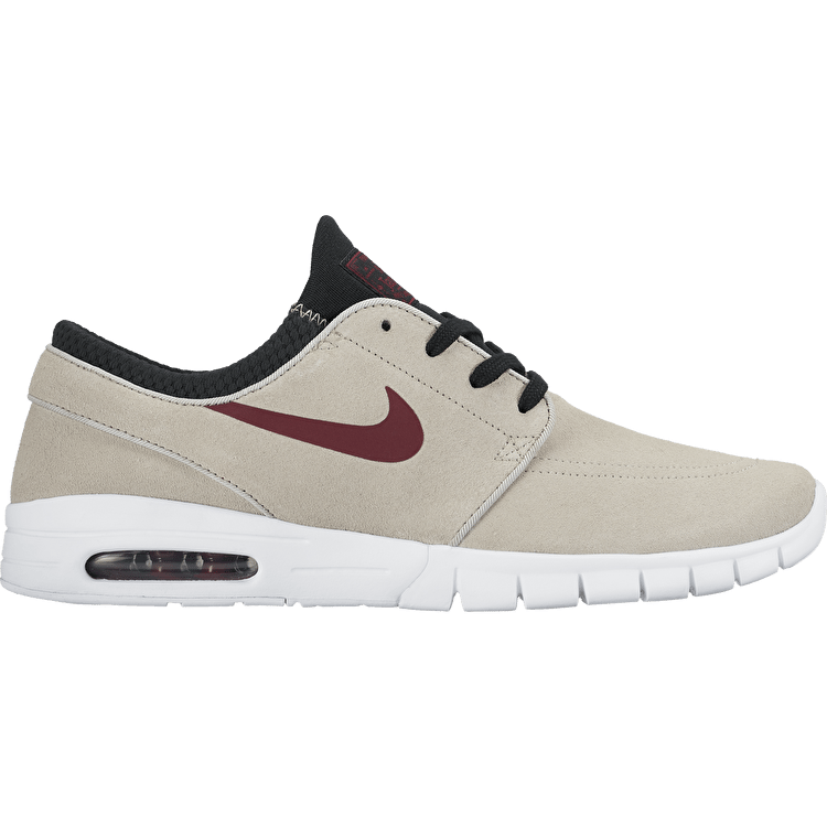 Nike SB Stefan Janoski Max L Skate Shoes - Light Bone/Team Red