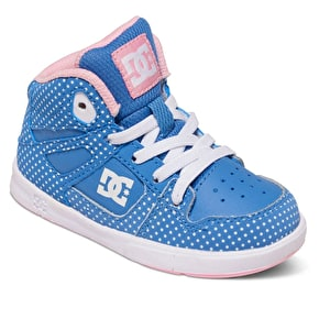 DC Rebound Toddler Skate Shoes - Blue/White/Print