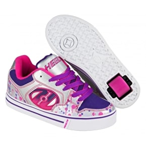 Heelys Motion Plus - Silver/Pink/Purple Drip