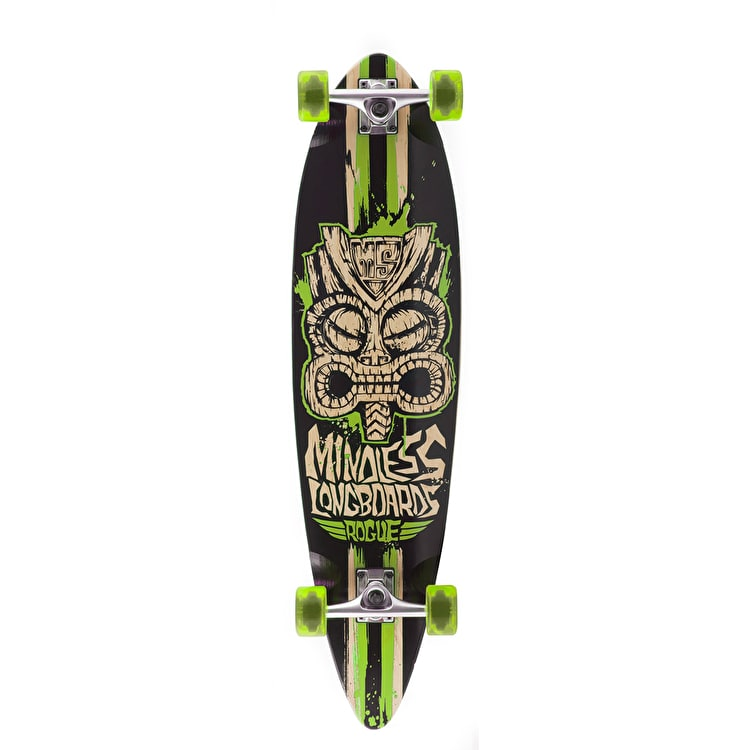 Mindless Tribal Rogue II Complete Longboard - Black/Green 38""