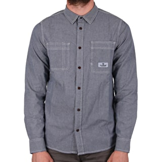 Element Collage Chambray Longsleeve Shirt - Light Blue