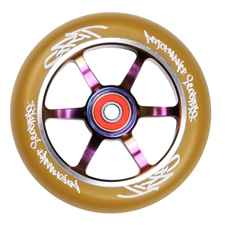 Grit 6 Spoke ACW 110mm Scooter Wheel - Gum/Neochrome